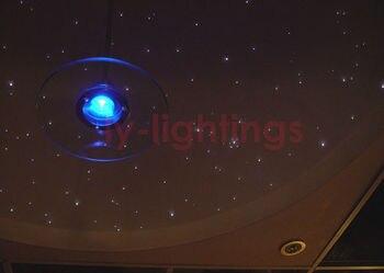 Kit De Luz De Fibra óptica Brillante De Cambio De Color Decoración Luces De Fibra óptica DIY Estrellas Luz De Noche Remoto Inalámbrico 20 W RGB Nuevo