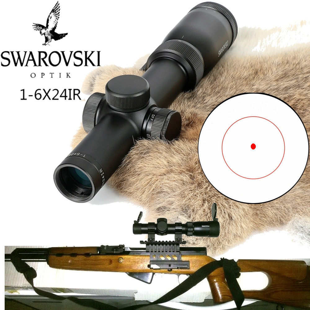 Imitation Swarovskl Riflescope 1-6x24IRZ3 F15 or F101 Circle Dot Punctuate Differentiation Sight Glass Rifle Scope Made In China tactical optical sights 1 6x24irz3 f101 circle dot punctuate differentiation sight glass reticle rifle scope hunting riflescope