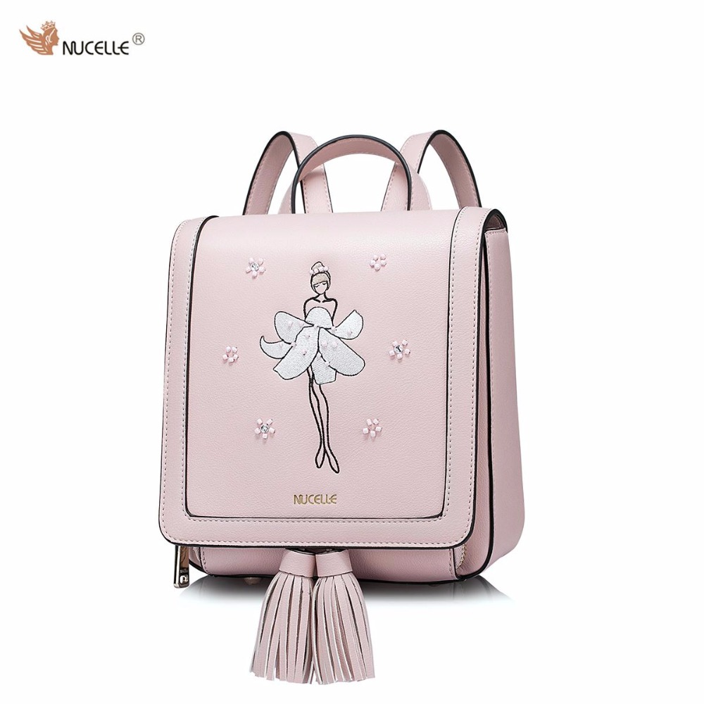 2017 Spring NEW NUCELLE Brand Design Fashion Small PU Leather Women Ladies Mini Backpack Purse Shoulders Bags With Tassels