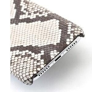 Image 4 - Funda de piel auténtica para iPhone SE 2020, 7, 8, X, XS, Max, XR, 6s, 5s, 5, 6, 7, 8 plus, 12 Min, 11 pro, max, piel de serpiente, marvel