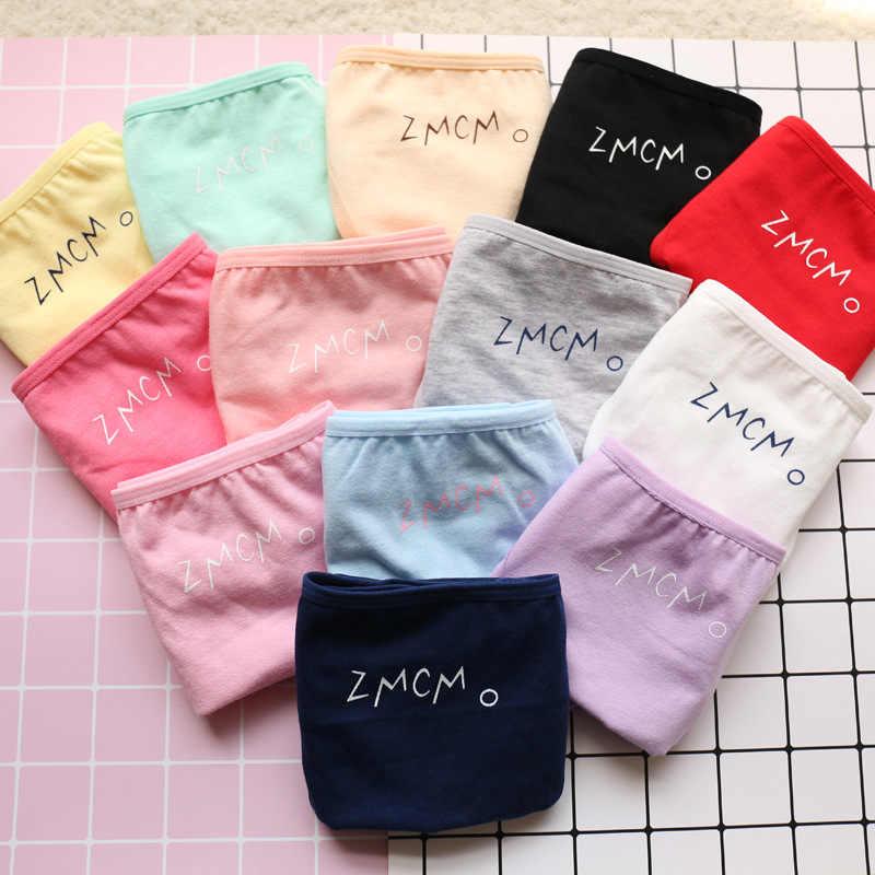 SP & עיר פשוט ZMCM בצבע מוצק כותנה תחתוני עבור בנות לנשימה חמוד ברזילאי נערה צעירה תחתוני תלמיד תחתונים