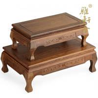 F jade красного дерева камень украшения ремесла jade Резное деревянное основание крылья Kang два комплекта Тайвань