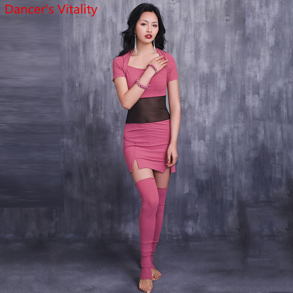 New Dance Dress Skirt Practicing Belly Dance Suit Basic Oriental Dance Dress Girls Dance Clothes S,M,L