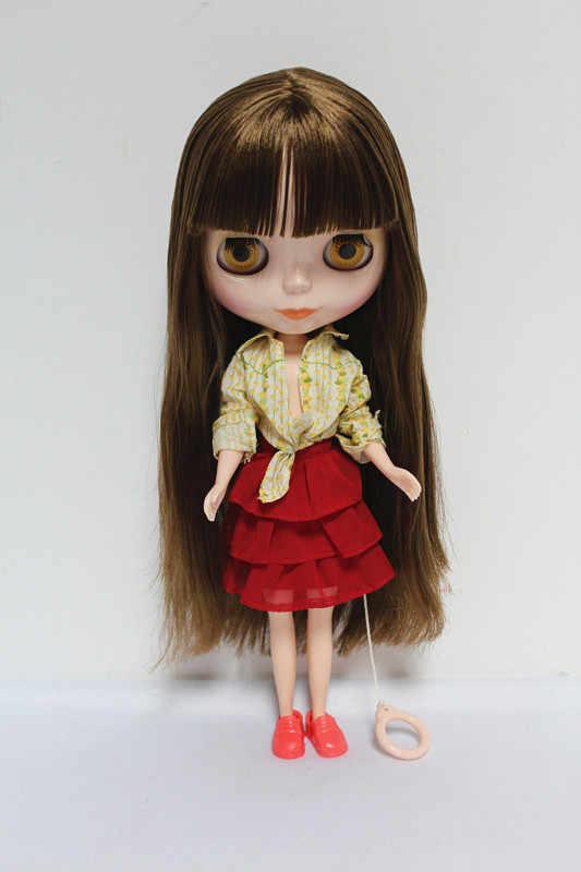 จัดส่งฟรีบิ๊กส่วนลดRBL-19DIYเปลือยตุ๊กตาไบลท์ของขวัญวันเกิดสำหรับสาว4สีตุ๊กตาดวงตาขนาดใหญ่ที่มีผมสวยน่ารักของเล่น