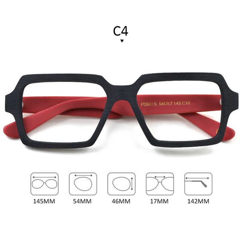 Image 4 - Square Wooden Glasses Men Woman Transparent Lens Brand Design Handmade Eyeglasses Male Vintage Style Acetate Top Quality S307-in Men's Eyewear Frames from Apparel Accessories