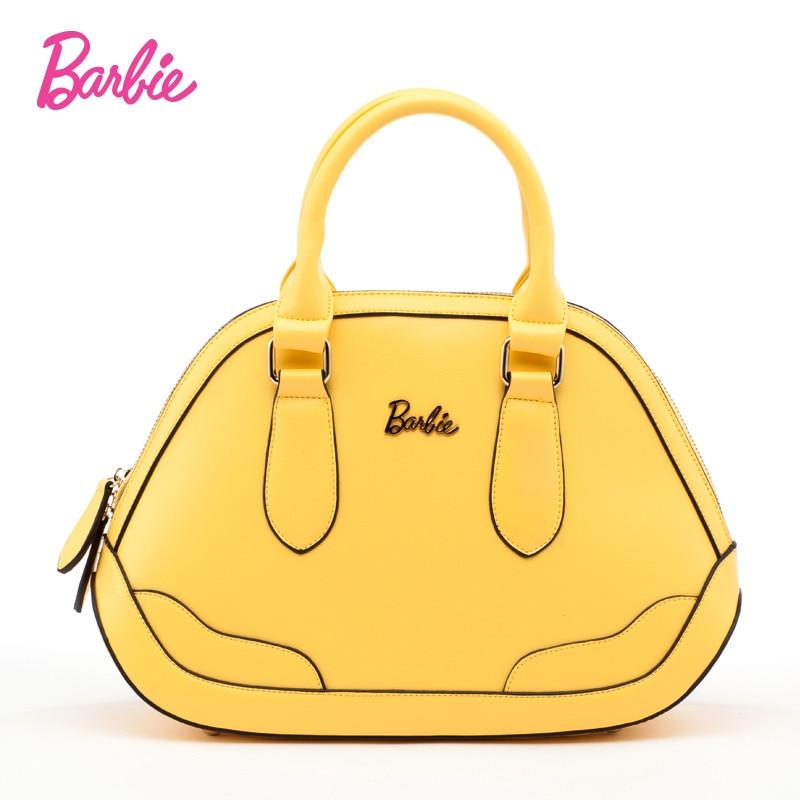 Barbie 2017 femmes doux sacs à main simple style Totes dames à la mode coloré petit sac couleur jaune