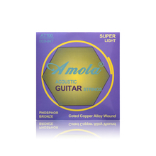 Amola Acoustic Guitar Strings AT100 010 Musical Instrument Parts Guitar Accessories Guitarra Strings Wound Steels
