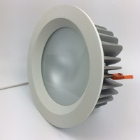 Suer Power LED Waterproof Recessed 40W 55W Downlight Fixture 50 Beam Angle LED IP54 Lamp Security Fixed Plate