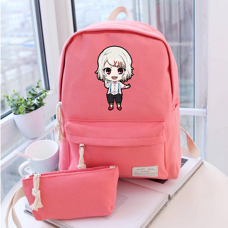 Anime tokyo ghoul Cosplay 2017 new male and female students cute casual fashion backpack travel backpack anime tokyo ghoul cosplay anime shoulder bag male and female middle school student travel leisure backpack
