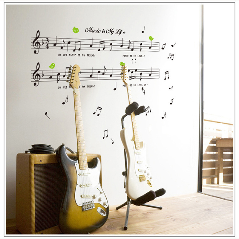 1set Large Size 70*120cm Music Sticker Music Is My Life