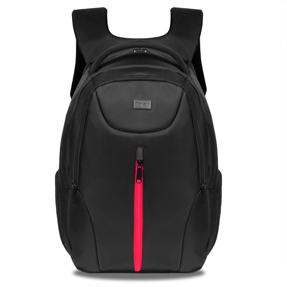 Solid Black 14Inch Laptop School Bags for Teenage Boys Business Computer Travel Men Bag Large Capacity Satchel School Bags