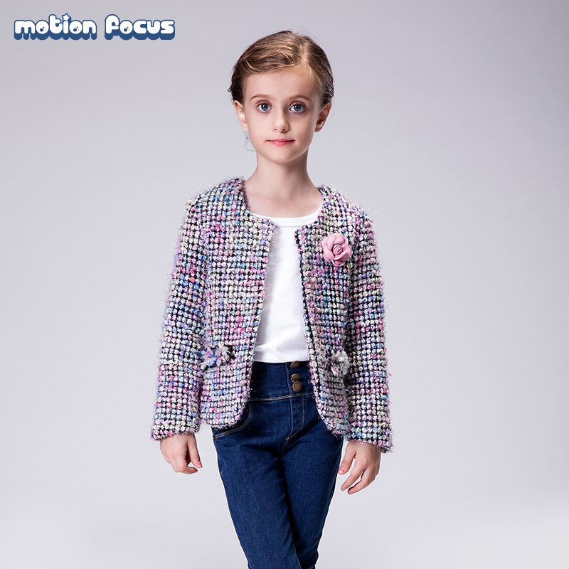 ФОТО New Spring Autumn Children Wear Kid Girls Holiday Tweed Jacket Blazer Adorable Baby Girl Coat Children Cardigan Outwear