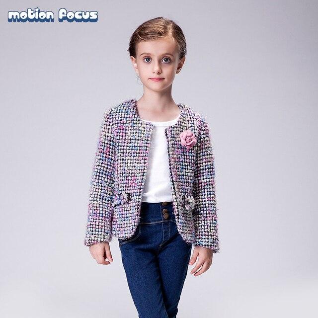 New Spring Autumn Children Wear Kid Girls Holiday Tweed Jacket Blazer Adorable Baby Girl Coat Children Cardigan Outwear