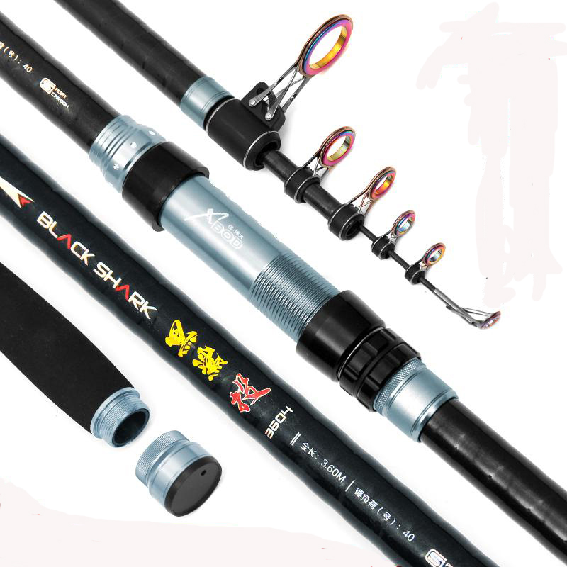 New Long Section Superhard Carbon Long Distance Throwing Casting Rod Sea Telescopic Fishing Rod Fishing Pole portable 5 section telescopic fishing rod pole 2 1m length