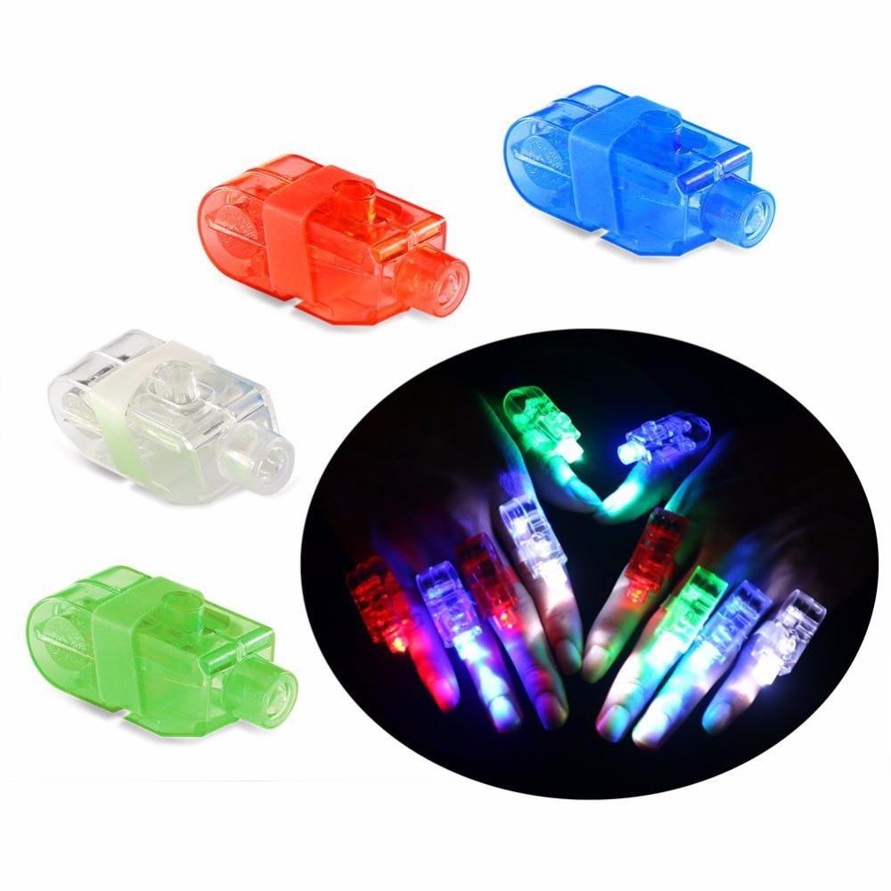 LED Finger Lamps Rave Finger Lights 35 PCS Super Bright Finger Flashlights