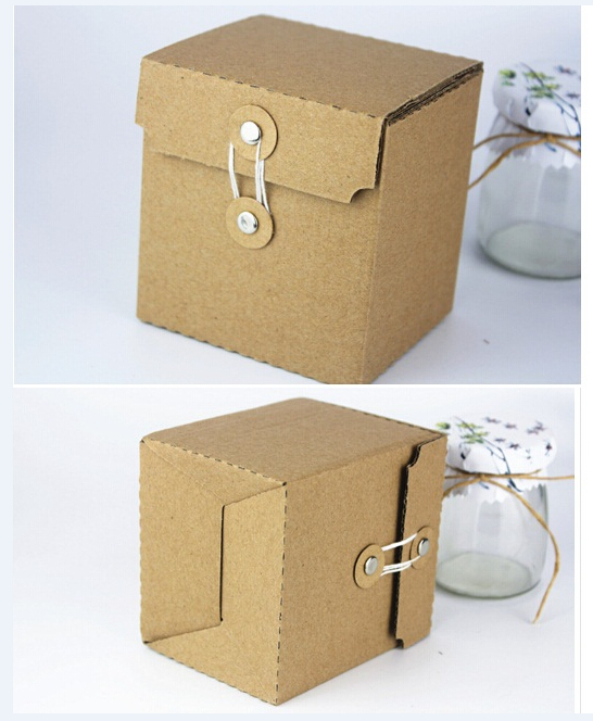 9x8x10cm Small Kraft Paper Vintage Boutique Custom Corrugated Cardboard Box Packaging Craft Box Fold Cardboard Box Packaging In Gift Bags Wrapping