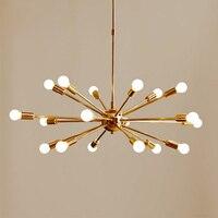 Латунь спутник Chandelier16/18/24 Arms Современная подвесной светильник подвесной свет для Гостиная Home Decor Обеденная