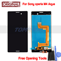 Original Tested LCD For Sony Xperia M4 Aqua LCD Display With Touch Screen Digitizer Assembly White/Black Color