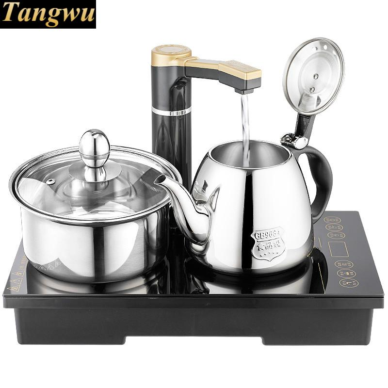 Electromagnetic tea furnace automatic upper water electric kettle three - one set induction for brewing laura childs tea for three