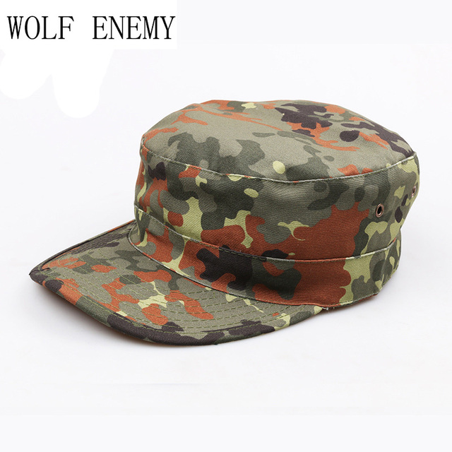 59f7b3ea7b6 Desert German Digital Woodland Black ACU Forest Camo Camouflage Military  Army Hunting Tactical Cap Caps Hat Hot Selling