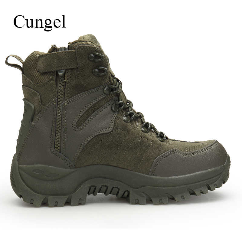 7dcc530ef01 Cungel Sneakers men Military tactical boots Outdoor Hiking shoes Anti-skid  Army Desert Combat ankle boots Mountain climbing