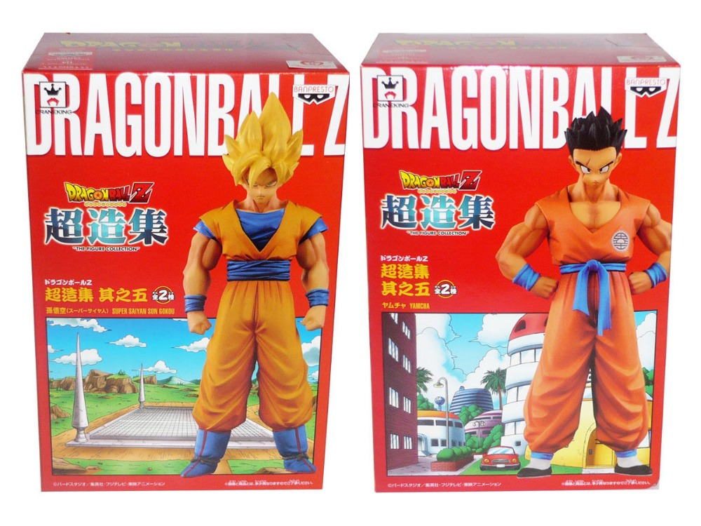 Japanese Anime DRAGONBALL Dragon Ball Z Original BANPRESTO Chozousyu Figure Vol.5 - Super Saiyan Son Gokou & Yamcha original banpresto world collectable figure wcf the historical characters vol 3 full set of 6 pieces from dragon ball z