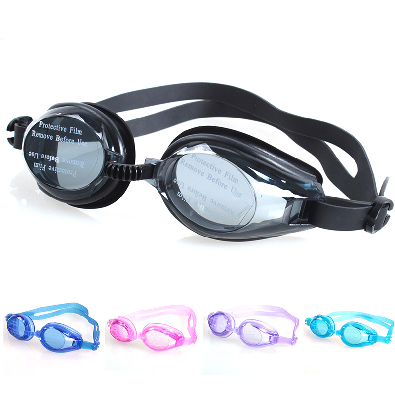 New Adjustable Goggles Swimming Glasses Anti-Fog UV Protect Children Waterproof Silicone Mirrored Swim Eyewear