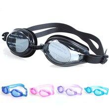 Óculos para natação ajustável, antiembaçante, uv, à prova d'água, de silicone, espelhado