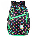 2016 Multi-Function Large Capacity School Bags Girls Boys Waterproof Cute Dot Backpacks Schoolbag Mochila Escolar Infantil