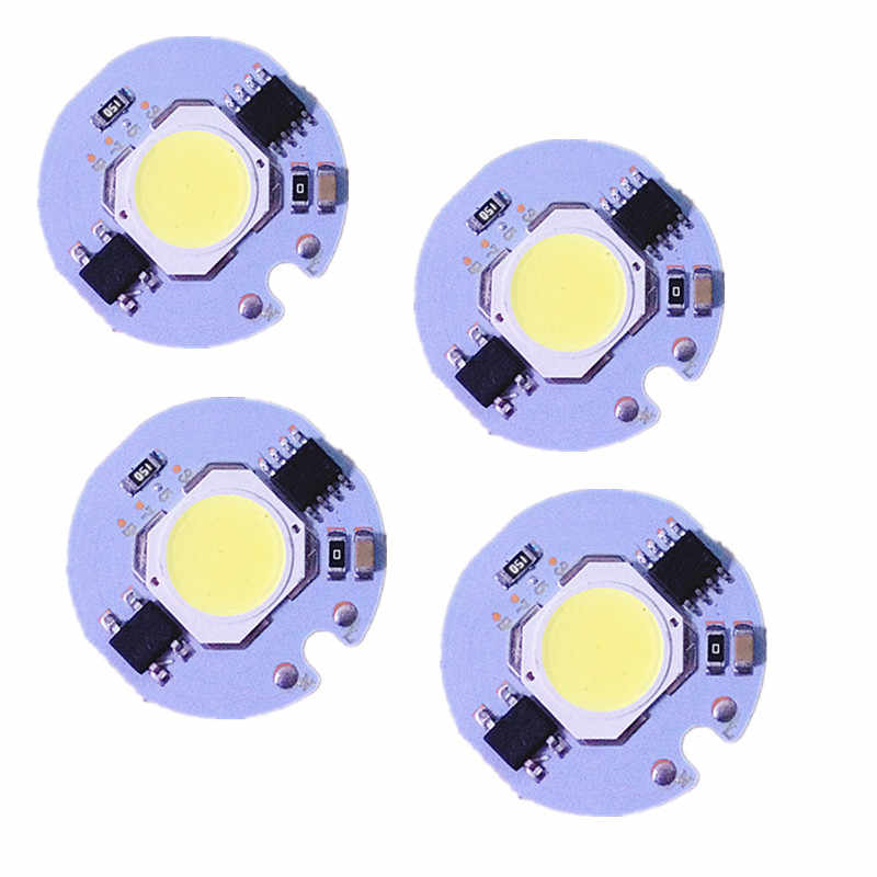 LED White  COB Chip 3W 5W 7W  9W AC 220V 110V No need driver Smart IC bulb lamp For DIY LED Floodlight Spotlight
