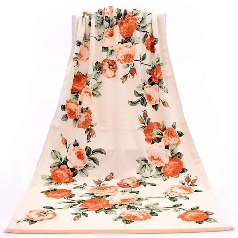 2017 ब्रांड नई महिला Peony तौलिया 100% कपास पुरुषों की तौलिया 76 * 34 सेमी स्नान तौलिया 70 * 140 सेमी उच्च गुणवत्ता समुद्र तट तौलिया