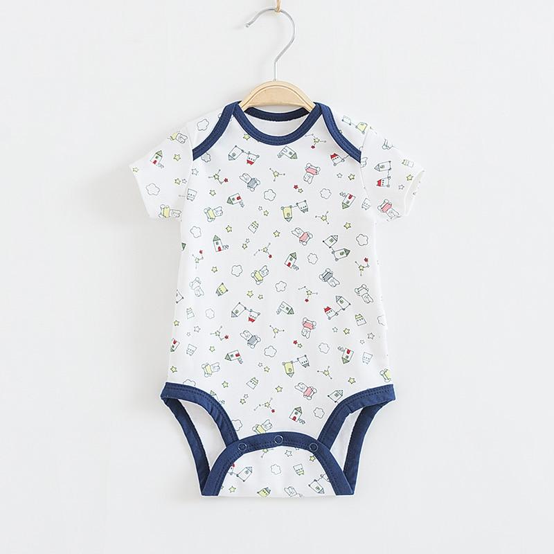 Baby Bodysuit Boys 100% Cotton Summer Infant Jumpsuit Print Patten Boy Body Suit Baby Clothing Set  Babies Clothing lucky numbers 2016 summer baby boys clothing 100