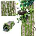 30/100x50 см Прямая поставка настоящая сушеная сосновая кора с искусственным Мохом для водопроводной трубы столб обертывание дерева поддельны...