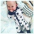 Outono Inverno Roupa Do Bebê Recém-nascido Bebê Menina Romper Roupas Macacão Infantil Algodão Traje Zipper Crianças Bebes Pijamas Pijamas