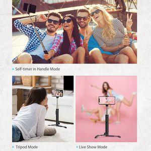 Image 3 - BlitzWolf BW BS9 بلوتوث صغير Selfie عصا Monopod ترايبود الكل في واحد المتكاملة انفصال حوامل Selfie العصي آيفون