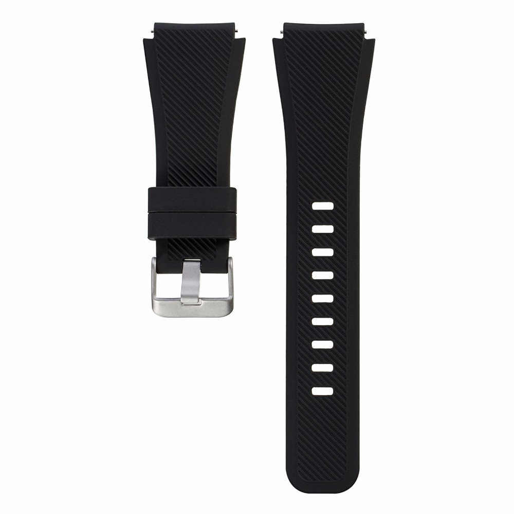 Bemorcabo 22mm Silicone Watch Band For Samsung Gear S3 Classic/Frontier Bracelet Rubber Watch Wrist Strap For Pebble Smart Watch