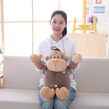 New 1pc 45cm Lovely Gorilla Plush Toy Soft Stuffed Animal Orangutan Doll Cute Cartoon Baby Toy Nap Pillow Creative Kids Gift Hot hot sale 1pc 70cm sleepy shy rabbit super lovely plush animal doll hold pillow stuffed toy cute children baby birthday girl gift