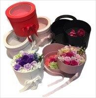 꽃집 포장 상자 새로운 디자인 두 층 수 켜세요 주위에 오픈 PVC 창 꽃 상자, 파티 gitf 상자, 2 개 10% 할인