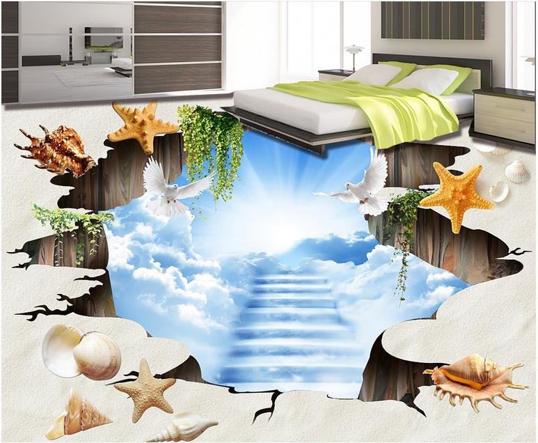 Carta da parati self adesivo pavimento in vinile soggiorno d