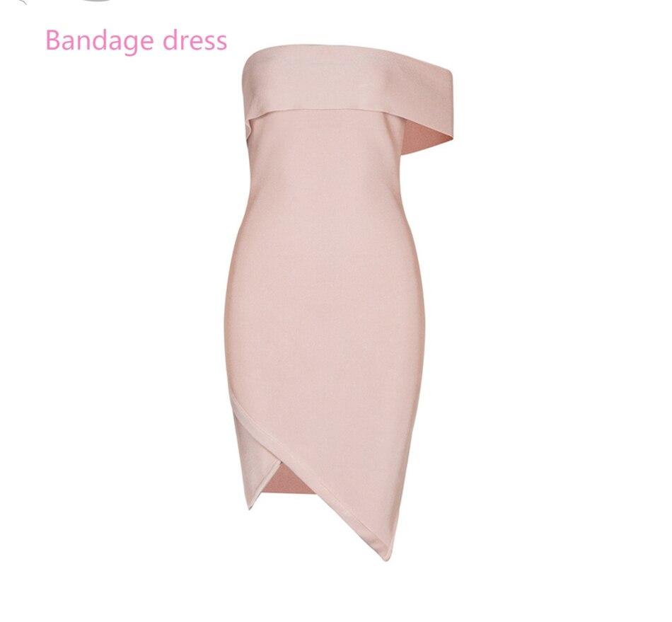 2017 novas mulheres bandage dress strapless um vestidos na altura do joelho-comprimento  ...
