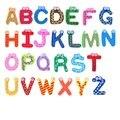 Adesivo de madeira brinquedo aprendizagem Precoce de atividades Inglês alfanumérico magnético ímãs de geladeira de madeira dos desenhos animados crianças não-tóxico