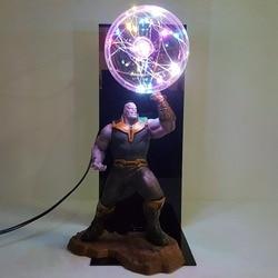 Avengers Endgame Thanos Infinity Gauntlet Led Flash Display Set Movie Avengers 4 Thanos Figure DIY  Lamp Toys