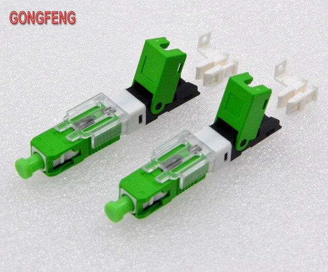GONGFENG conector rápido en frío de fibra óptica, FTTH SC, modo único UPC/APC, venta al por mayor especial, 100 Uds.