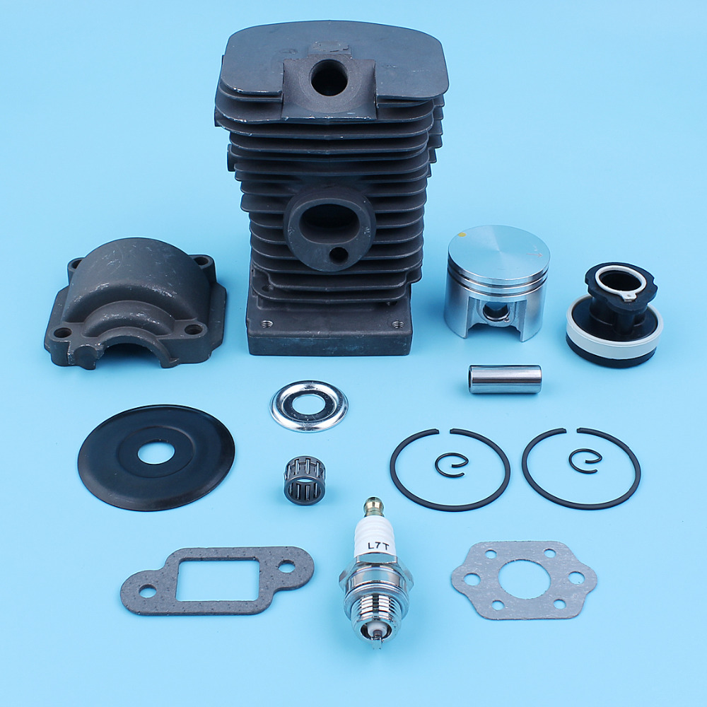 Nikasil Plated 38MM Cylinder Piston Top End Kit For Stihl 018 MS 180 MS170 Chainsaw WT Engine Pan Intake Manifold Clutch Washer