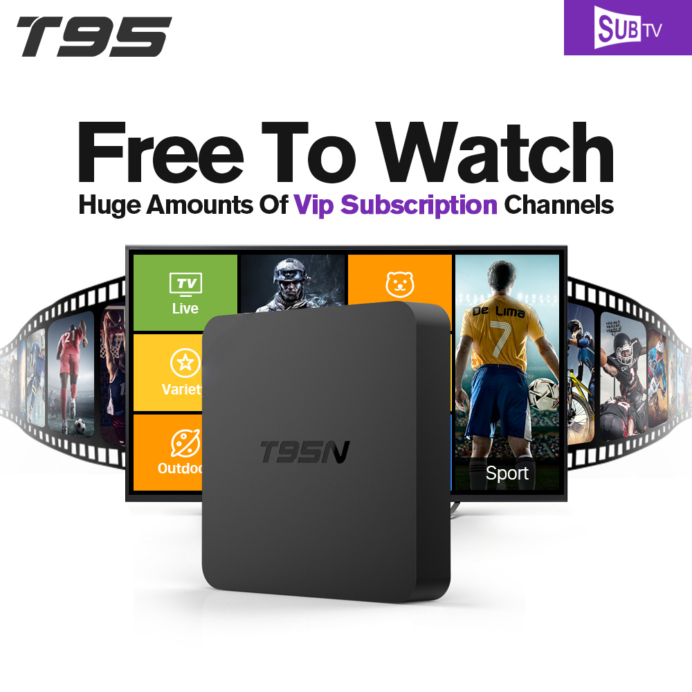Europe Arabic IPTV Box T95N Android TV Box Amlogic S905X Quad-core T95N 3500 Russia USA Brazil IPTV Channels Media Player free shipping isdb t quad tuner pcie card tbs6814 perfect for brazil sbtvd and japan isdb t tv programs