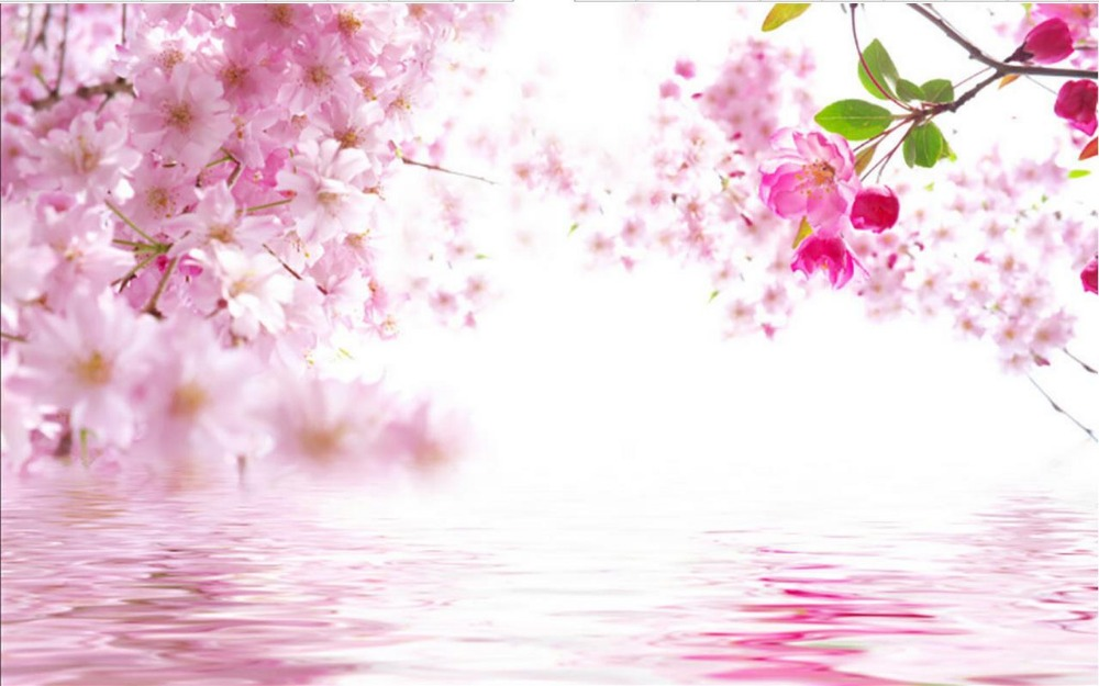 3d murales de papel tapiz de Moda simple flor rosa 3d papel tapiz de flores mural