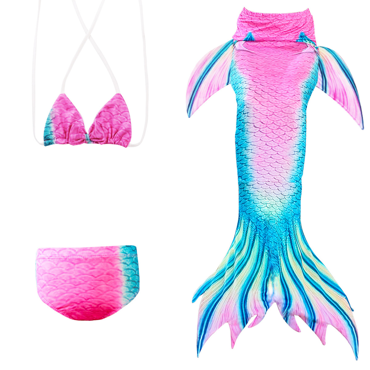 Mother & Kids New Girls Swimming Mermaid Tails Costume Cosplay Little Children Mermaid Swimsuit Tails 5 Rainbow Colors Swimwear Bathing Suit