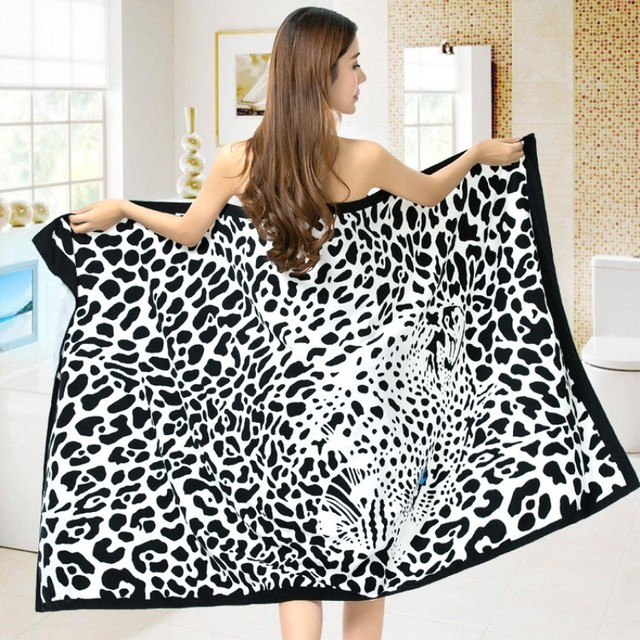 100X180cm Bath Towel Super-absorbent Microfiber Sport Beach Towels Soft Environmental Printing Wrap Blanket
