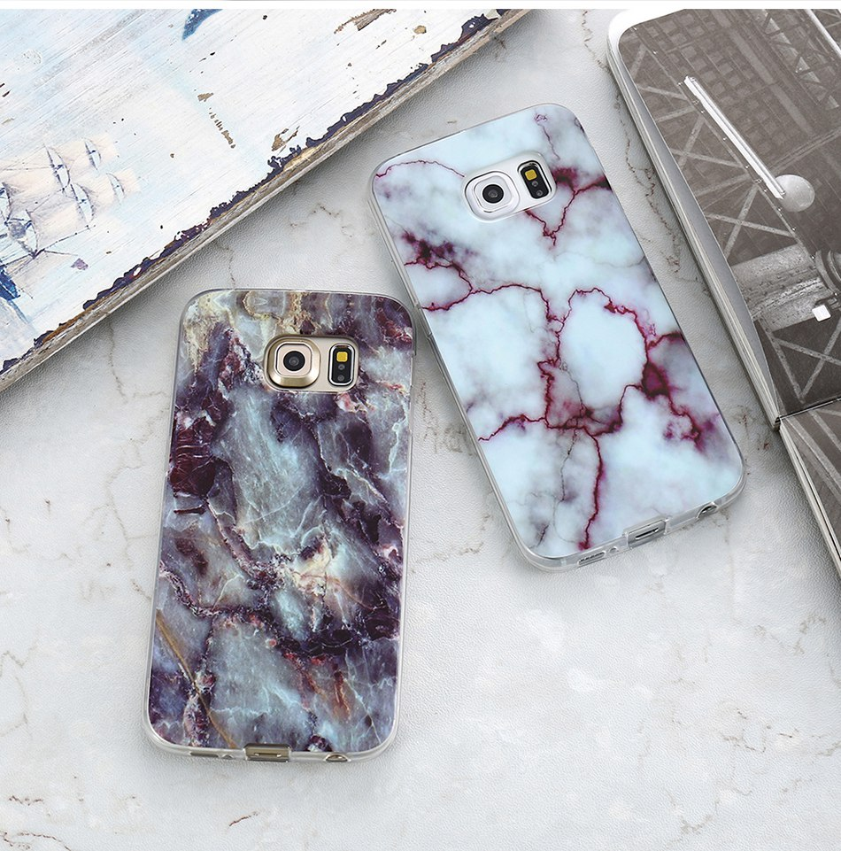 Marble Skin Case For Samsung Galaxy S8 Plus S7 S6 Edge S4 Soft Silicon Phone Cases (9)