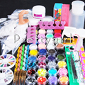 Hot Acrylic Nail Powder Liquid Gel Primer Buffer Nail Art Tips Cutter Kit Tool Kit Manicure Set For Salon Dropshipping